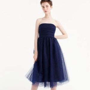 J. Crew Tulle Pleated Strapless Dress size 14